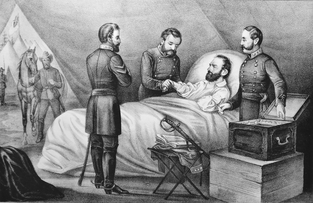 """The Death of """"Stonewall"""" Jackson Currier & Ives (1872)"""